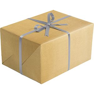 Double Sided Gift Wrap, Gold & Silver Kraft