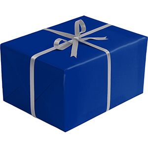 Double Sided Gift Wrap, Royal & Silver Kraft