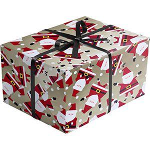 Dancing Santa, Santa Gift Wrap