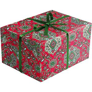 Tapestry Red, Holiday Gift Wrap