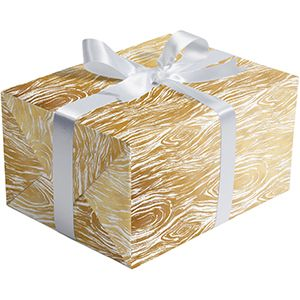 Golden Wood Grain, Holiday Gift Wrap