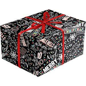 Christmas Chalk, Christmas Patterns Gift Wrap