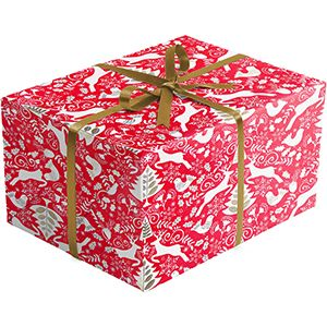 Scandanavian Red, Holiday Gift Wrap