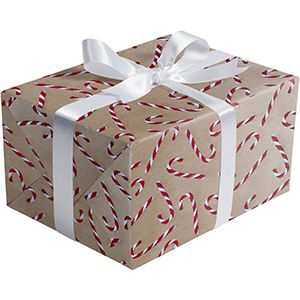 Candy Cane Glitter, Holiday Gift Wrap