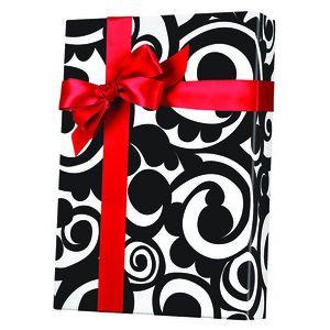 Feminine & Floral Gift Wrap, Bold Scroll