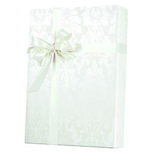 Valentine Gift Wrap, Gothic Flourish -Pearl/White