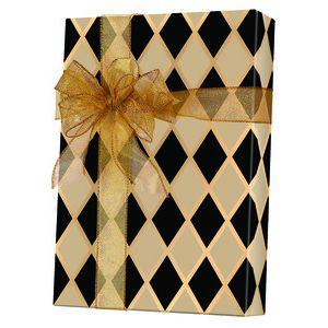 Masculine Gift Wrap, Black Diamonds Kraft