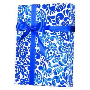 Feminine & Floral Gift Wrap, Batik Scroll