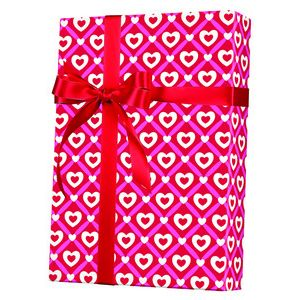 Valentine Gift Wrap, Heart Lattice