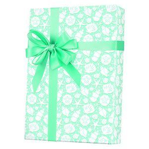 Feminine & Floral Gift Wrap, Seashells