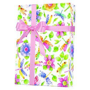Feminine & Floral Gift Wrap, Damselfly