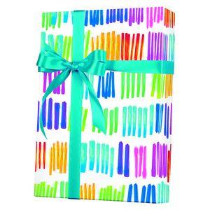 Celebrate Gift Wrap, Watercolor Rainbow