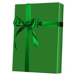 Masculine Gift Wrap, Gold & Green Stripe