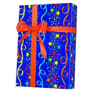 Celebrate Gift Wrap, Stars & Streamers