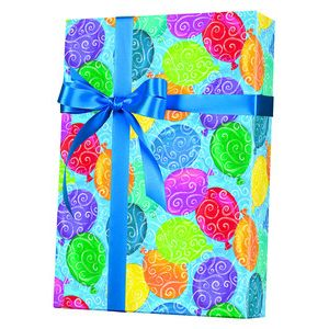 Celebrate Gift Wrap, Balloons Galore