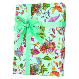 Feminine & Floral Gift Wrap, Crewel Embroidery