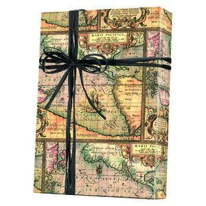 Masculine Gift Wrap, World Map