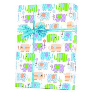 Baby Gift Wrap, Baby Elephants