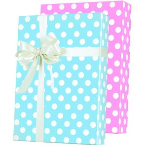 Baby Gift Wrap, Baby Dots Reversible