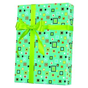 Masculine Gift Wrap, Hip to be Square