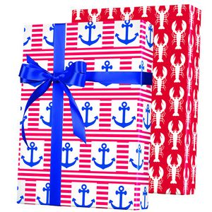 Celebrate Gift Wrap, Ship Ahoy! Reversible