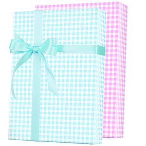 Baby Gift Wrap, Baby Gingham Reversible