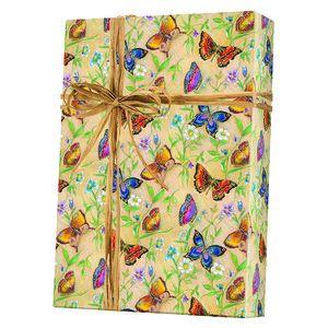 Feminine & Floral Gift Wrap, Butterflies