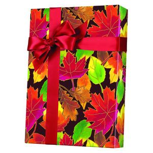 Feminine & Floral Gift Wrap, Autumn Leaves