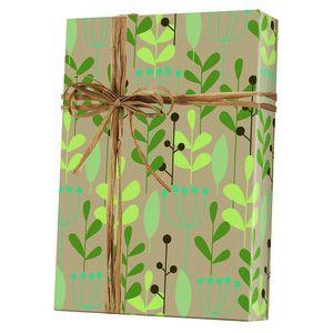 Feminine & Floral Gift Wrap, Leaves & Berries