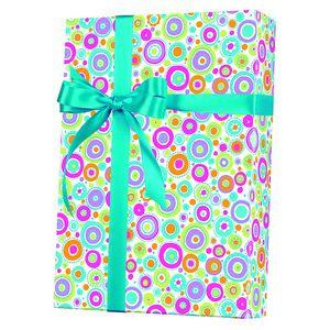 Feminine & Floral Gift Wrap, Happy Dots