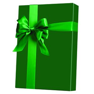Solids & Special Finishes, Gift Wrap, Forest Green