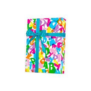 Happy Birthday Type, Celebration Gift Wrap