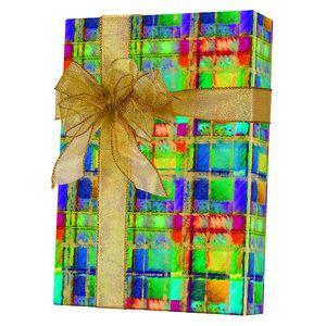 Celebrate Gift Wrap, Power Plaid
