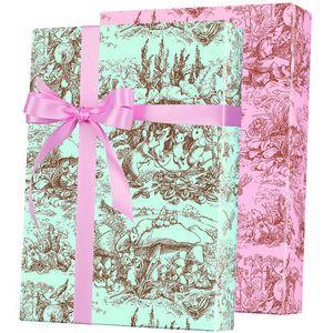 Baby Gift Wrap, Baby Toile Reversable