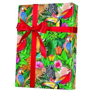 Celebrate Gift Wrap, Jungle Paradise Ultra Gloss