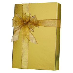 Solids & Special Finishes, Gift Wrap, Gold Metallic