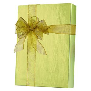 Solids & Special Finishes, Gift Wrap, Pale Gold Moire