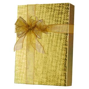 Solids & Special Finishes, Gift Wrap, Warm Gold Spun Sheen Embossed Foil