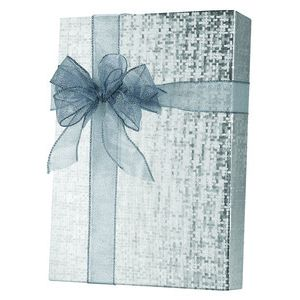 Solids & Special Finishes, Gift Wrap, Silver Spun Sheen Embossed Foil