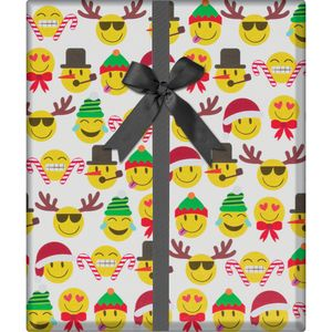 """Christmas Giftwrap, Emoji Christmas Collection, 10' x 30"""""""