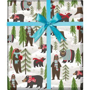 "Christmas Giftwrap, Winter Bear Collection, 10' x 30"""
