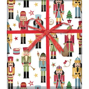 "Christmas Giftwrap, Traditional Nutcracker Collection, 10' x 30"""