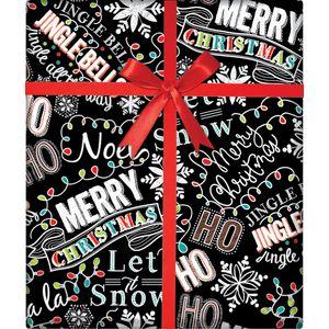 """Christmas Giftwrap, Christmas Chalk Collection, 10' x 30"""""""