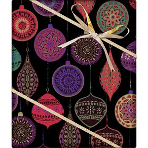 """Christmas Giftwrap, Opulent Ornament Collection, 10' x 30"""""""