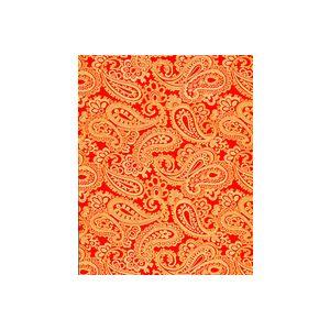 Red/Gold Paisley, Feminine Gift Wrap