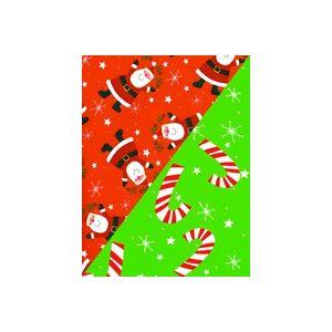 Ho Ho Santa/Stars, Santa Gift Wrap