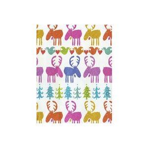 Holiday Moose, Holiday Animal Gift Wrap