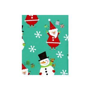 Flakey Santa & Snowman, Christmas Gift Wrap