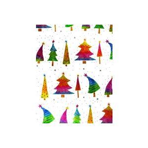 Rainbow Trees, Christmas Gift Wrap