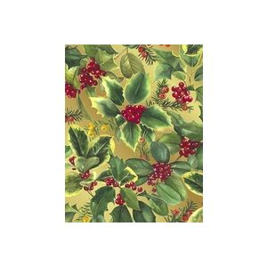 Holly & Berries , Christmas Gift Wrap